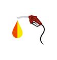 Fuel nozzle with drop vector image