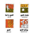 golf club logo icons set vector image vector image