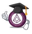 graduation augur coin character cartoon vector image vector image