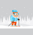 granny skiing adult skier winter sports healthy vector image