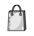 grayscale shopping bag market accessory icon vector image vector image