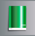 green gradient cover background for the banner vector image vector image