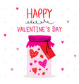 happy valentine day heart cartoon vector image vector image