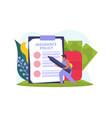 health insurance icon vector image