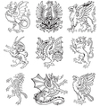 heraldic monsters vol ii vector image