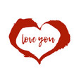 ink brush drawn heart vector image vector image