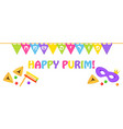 jewish holiday of purim holiday flags vector image vector image