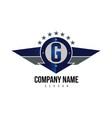 letter g shield logo vector image vector image