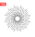 linear drawing of radial sun rays in vintage style vector image