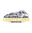 logistic logo transportation vector image vector image
