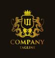 luxury letter w logo vector image