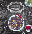 mediterranean cuisine vector image vector image