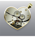 Metal steampunk heart with gears vector image