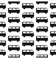 Minibus symbol seamless pattern vector image vector image