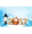 New Year 2017 background with winter nature and a vector image
