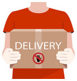 online delivery service concept delivery man vector image