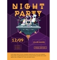 Party poster for night club Dj in an astronaut vector image vector image