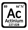Periodic table element actinium icon vector image vector image