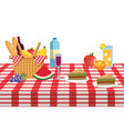 picnic and food vector image