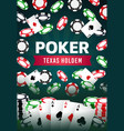 poker texas holdem gamble game online casino vector image vector image