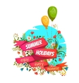 red ribbon with Summer vector image