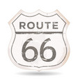 route 66 icon with grunge and rust textures vector image vector image