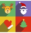 Santa claus and christmas New Year flat design vector image vector image