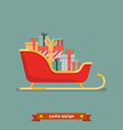 santa sleigh with piles presents vector image vector image