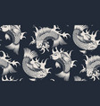 seamless pattern with koi carp vector image vector image