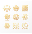 set abstract golden signs vector image vector image