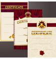 Set of elegant templates of diploma lace ornament