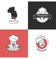 set of retro classic badges for pizza vector image vector image