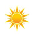 Shinny Sun image logo icon vector image vector image
