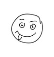 sketch emoticon smiley face cartoon vector image