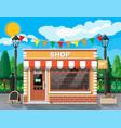 small european style shop exterior vector image vector image