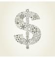 Snowflake dollar vector image vector image