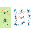 soccer characters isometric athletics persons vector image vector image