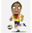 Soccer player Sweden vector image vector image