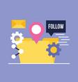 social media digital vector image vector image