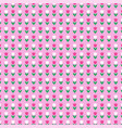 tulip pattern on pink background vector image vector image