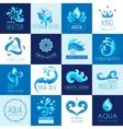 Water Emblems Set vector image vector image