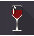 Wine glass icon vector image vector image