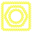 Yellow Frames vector image vector image