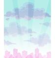 Cartoon cloudy sky background vector image