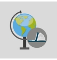 online learning globe education vector image