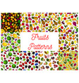 fresh fruit and berry seamless pattern background vector image