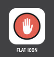 of safety symbol on palm flat vector image