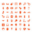 49 girl icons vector image vector image
