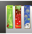 a set of christmas banners vector image vector image