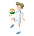 A soccer player from India vector image vector image
